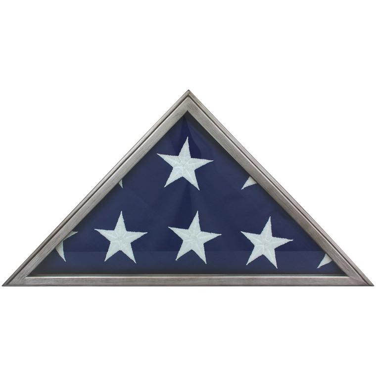 Metallic Grey Memorial Flag Case