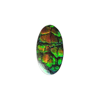 29x17 Ammolite Canada's Opal Oval Shape Triplet 2 Color Green & Gold Gem