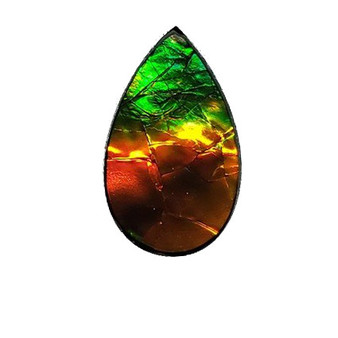 22x13 Ammolite Canada's Opal Oval Shape Triplet 2 Color Gold & Green Gem