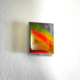 8x10  Rectangle Gemstone Deep Green & Red with hints of Deep Blue &  Yellow
