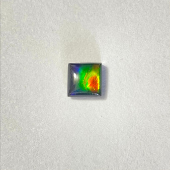 8x8 Square Gemstone Deep Green & Red with hints of Deep Blue & Vibrant Yellow