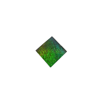 10x10  Faceted Square Gemstone Deep Green & Blue