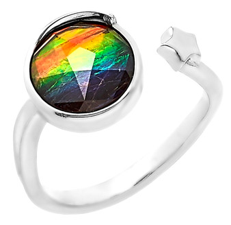 Ammolite 9mm Starr Ring (sizes available)