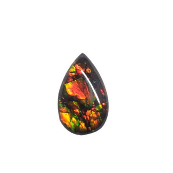 18x11 Brilliant Two-Color Triplet Ammolite Pear Shape Gemstone 349