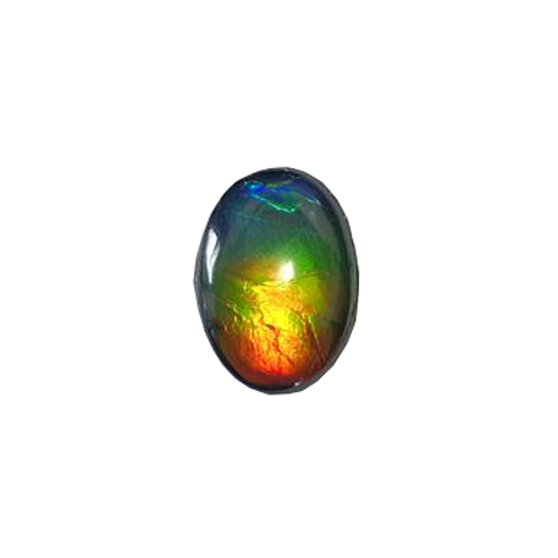 10x14 Oval Gemstone Deep Green & Red with hints of Deep Blue & Vibrant Yellow