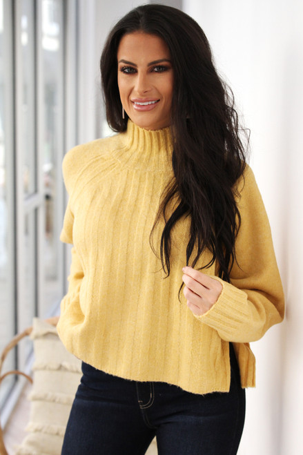 Toile Ribbed Golden Yellow Sweater