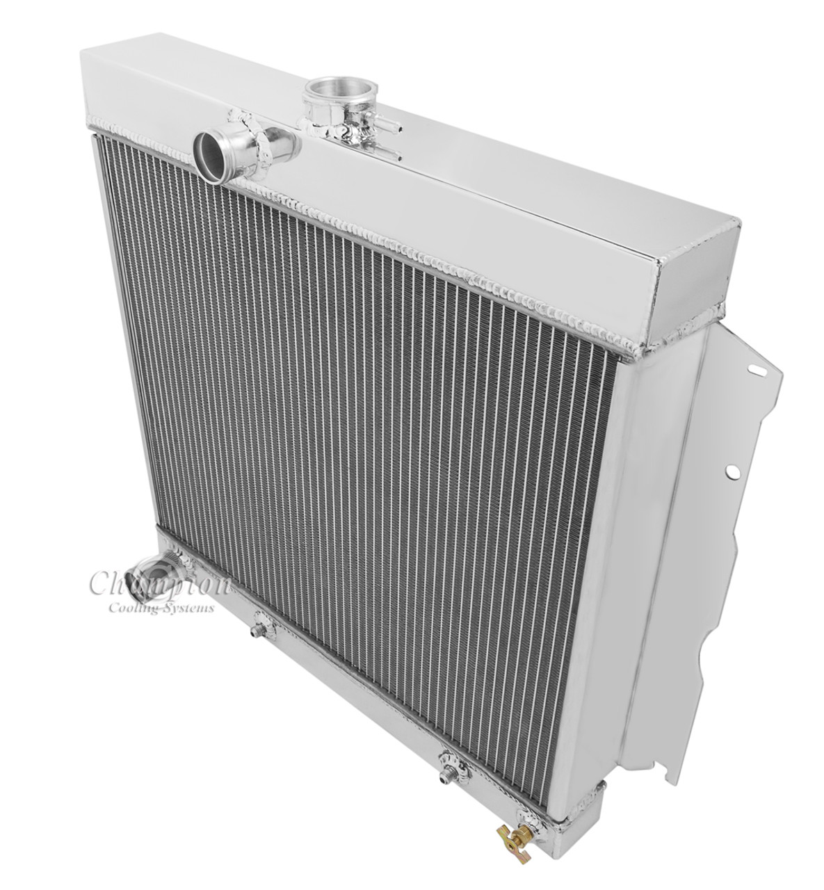 """3 Row Champion Radiator For 1970-72 Dodge Plymouth Cars 22/"""" Core With 16/"""" Fan"""