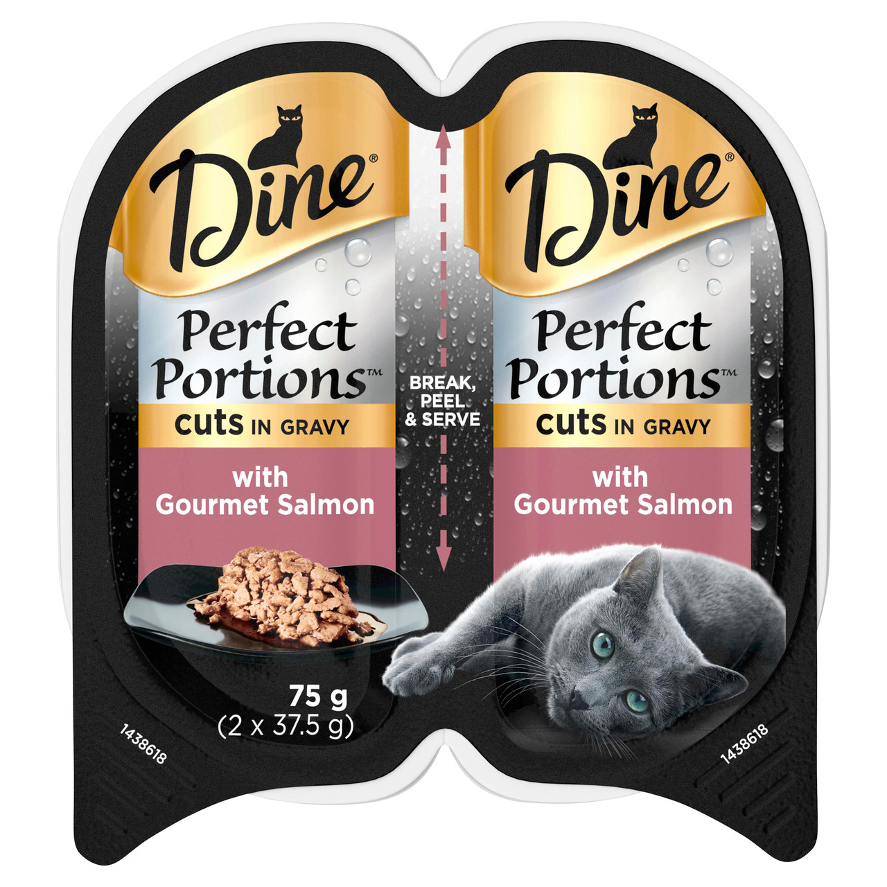 Dine Perfect Portions Wet Cat Food Cuts In Gravy With Gourmet Salmon