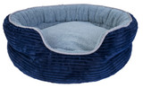 Yours Droolly Round Indoor Osteo Bed Blue