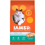 IAMS Proactive Health Hairball Care Adult Dry Cat Food with Chicken & Salmon