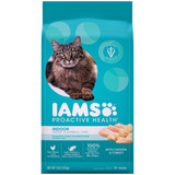 IAMS Proactive Health Indoor Weight & Hairball Care Adult Dry Cat Food with Chicken & Turkey