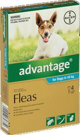 Advantage Flea Treatment For Dogs 4-10kg