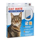 Petmate 4 Way Locking Glass Fitting Cat Door
