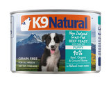 K9 Natural Puppy Feast Beef With Hoki Wet Dog Food Cans