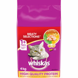 Whiskas Adult Dry Cat Food Meaty Selections Bag