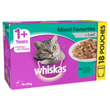 Whiskas Adult Wet Cat Food Mixed Favourites in Loaf 18 x 85g