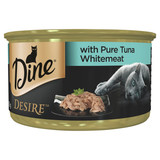 Dine Desire Wet Cat Food Pure Tuna Whitemeat 85g Can