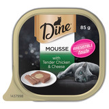 Dine Wet Cat Food Mousse With Tender Chicken & Cheese 85g