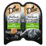 Dine Perfect Portions Wet Cat Food Pate Entrée With Chicken & Liver