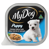 My Dog Puppy Wet Dog Food Chicken Mince With Rice, Carrot & Spinach 100g
