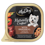 My Dog Naturally Crafted Wet Dog Food Kangaroo, Capsicum and Carrots 85g