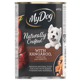 My Dog Naturally Crafted Wet Dog Food Kangaroo, Capsicum and Carrots 400g Can