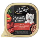 My Dog Naturally Crafted Wet Dog Food Australian Beef, Capsicum and Green Beans 85g