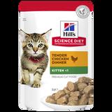 Hill's Science Diet Kitten Healthy Development Chicken Pouches Wet Cat Food