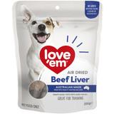 Love'Em Air Dried Beef Liver Dog Treats