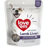 Love'Em Air Dried Lamb Liver Dog Treats