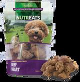 NUTREATS Freeze Dried Beef Hearts Dog Treats