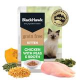 Black Hawk Grain Free Kitten Chicken with Peas & Broth Wet Cat Food