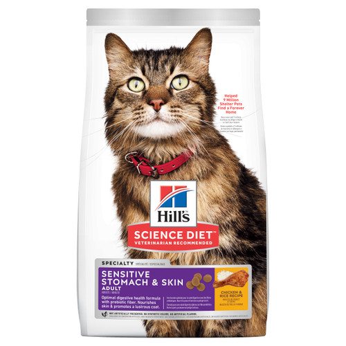 Hill's Science Diet Adult Sensitive Stomach & Skin Dry Cat Food