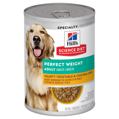 Hill's Science Diet Adult Perfect Weight Chicken & Vegetables Canned Wet Dog Food