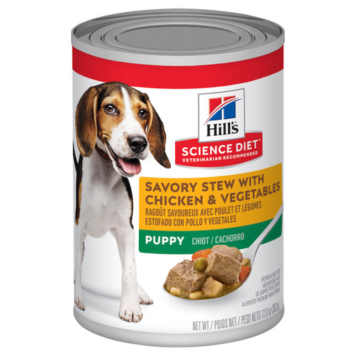 Hill's Science Diet Savory Stew Chicken & Vegetables Canned Wet Puppy Food