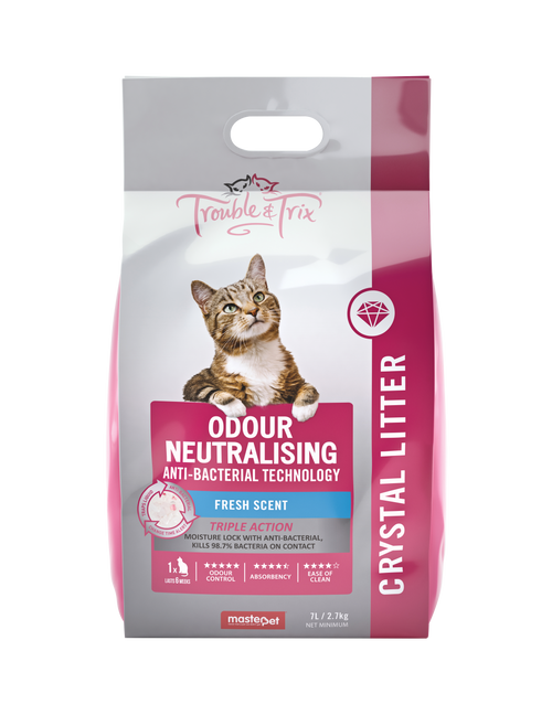 Trouble & Trix Cat Litter Anti-Bacterial Crystal