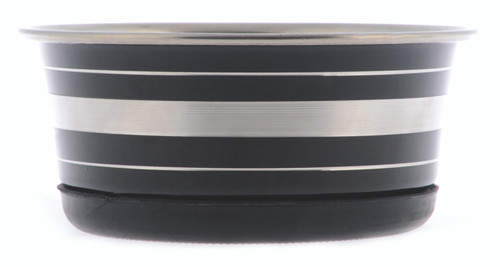 Yours Droolly Stainless Steel Black Bowl