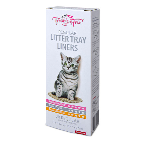 Trouble & Trix Regular Litter Tray Liners