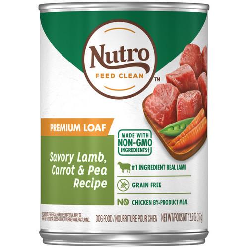 Nutro Adult Natural Wet Dog Food Premium Loaf Savoury Lamb, Carrot & Pea Recipe