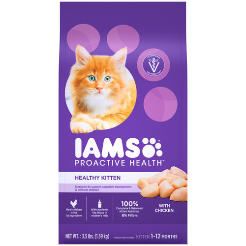 IAMS Proactive Health Kitten Dry Cat Food with Chicken