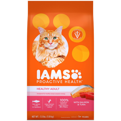 IAMS Proactive Health Adult Dry Cat Food with Salmon & Tuna