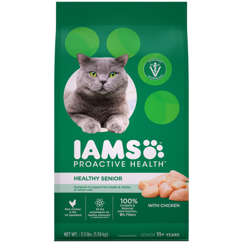 IAMS Proactive Health Senior Dry Cat Food with Chicken