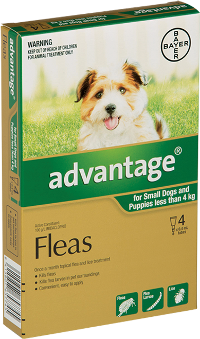 Advantage Flea Treatment For Dogs 0-4kg