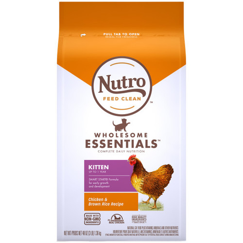 Nutro Wholesome Essentials Natural  Chicken & Brown Rice Recipe Kitten Dry Food