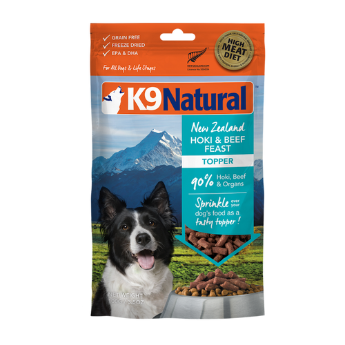 K9 Natural Hoki & Beef Feast Topper For Dogs