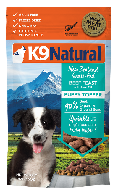K9 Natural Puppy Beef With Hoki Topper For Dogs