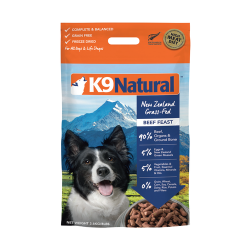 K9 Natural Beef Feast Freeze Dried Dog Food