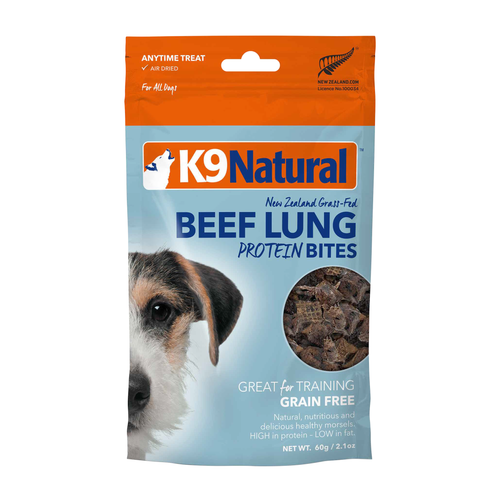 K9 Natural Beef Lung Protein Bites Freeze Dried Dog Treats