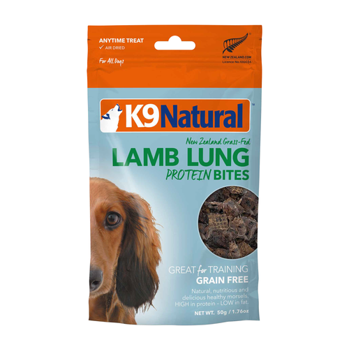K9 Natural Lamb Lung Protein Bites Freeze Dried Dog Treats