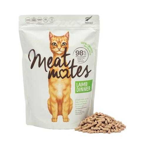 Meat Mates Meow Lamb Dinner Grain Free Freeze Dried Cat Food